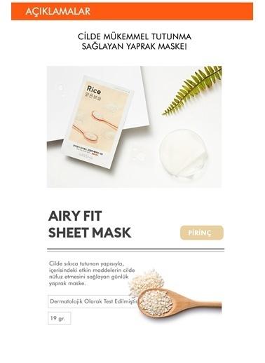 Missha Pirinç Özlü Aydınlatıcı Ve Nemlendirici Yaprak Maske (1Ad) Airy Fit Sheet Mask Rice Renksiz